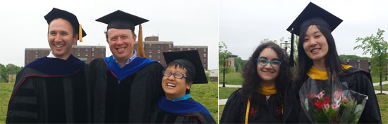 Photo: 2016 Jensen Lab and Eden Buenaventura and Karen Leuconvocation at convocation.